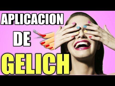 Uñas acrilicas - aplicacion de gelich correctamente