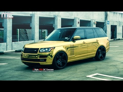 MC Customs | Gold Gold Land Rover Range Rover · Vellano Wheels