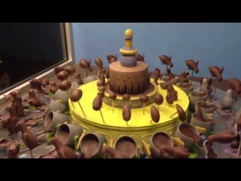 Draaiende chocolade taart