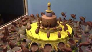Spinning Chocolate. Crazy Illusion!