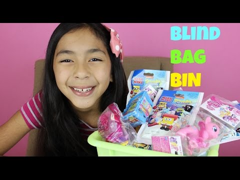 Bin - Another Monday Blind Bag Bin I'm very excited because I have new Blind bags on my bin, I got most of the ponies from My Little Pony, shopkins, Sponge Bob Hello Kitty, Angry Birds and more....