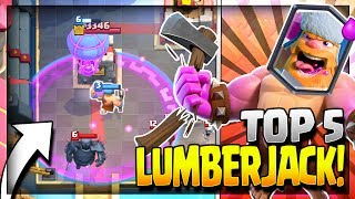 Top 5 Best Lumberjack Decks in Current Meta! Lumberjack Golem Deck, Lumberjack Hog Rider Deck, Lumberjack Giant Deck, Lumberjack Balloon Deck, Lumberjack Royal Giant Deck. Lumberjack Deck for Legendary Arena 11, Hog Mountain Arena 10, Jungle Arena 9 and Frozen Peak Arena 8.~~~Free Gems: http://mistplay.co/shane ~~ Invite Code: ShaneWhat do you guys think is the best lumberjack deck? let me know in the comments!Click here to Subscribe: http://www.youtube.com/channel/UCTsFqvFocRsP6YmdzPdHwCw?sub_confirmation=1Follow me on Twitter: https://twitter.com/CLASHwith_SHANEJOIN MY CLANS:Clan 1: CHILLwithSHANEClan 2: CLANwithSHANEIf you enjoyed the video, please like and subscribe. New Clash Royale Content every day!Clash Royale  Clash Royal Gameplay & Strategy  Clash Royale Tips Tricks GuidesIntro Music: Jetta - I'd Love to Change the World (Matstubs Remix)Outro Music: Hey Now by MK2Thanks for watching! Have an awesome day!