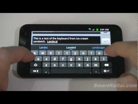Video of Ice Cream Sandwich Keyboard