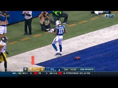 Donte moncrief's amazing 60 yard touchdown pass||colts vs Steelers||NFL||2017-2018||