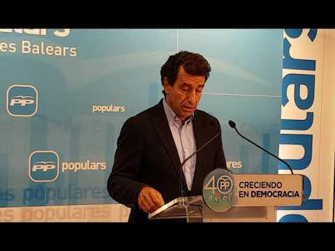 Declaraciones en rueda de prensa del presidente del Partido Popular de las Illes Balears, Biel Company