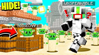 BABY YODA STAR WARS HIDE and SEEK in MINECRAFT! WITH UNSPEAKABLE AND 09SHARKBOY