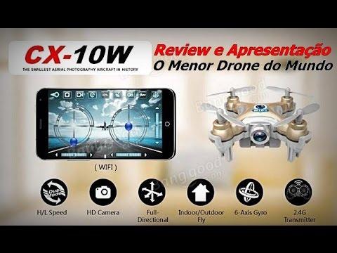 O Menor Drone do Mundo FPV - Review Cheerson CX-10W FPV - O Menor Drone do Mundo Com Câmera