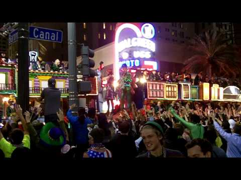 mardi gras parade - Video I took and the Endymion parade in New Orleans. Also took some shots down in the French Quarter on the world famous Bourbon Street. The parade was prett...
