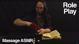 ASMR Rune Reading Role Play with Grandad.  You find a old book and pouch of runes.