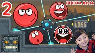La Bolita Roja en la Fábrica 2   Juego para niños Red Ball 4   Juegos Infantiles para niños