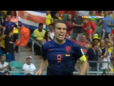 van Persie- Siêu phẩm vào lưới Tây Ban Nha World Cup 2014 - Thời lượng: 52 giây.