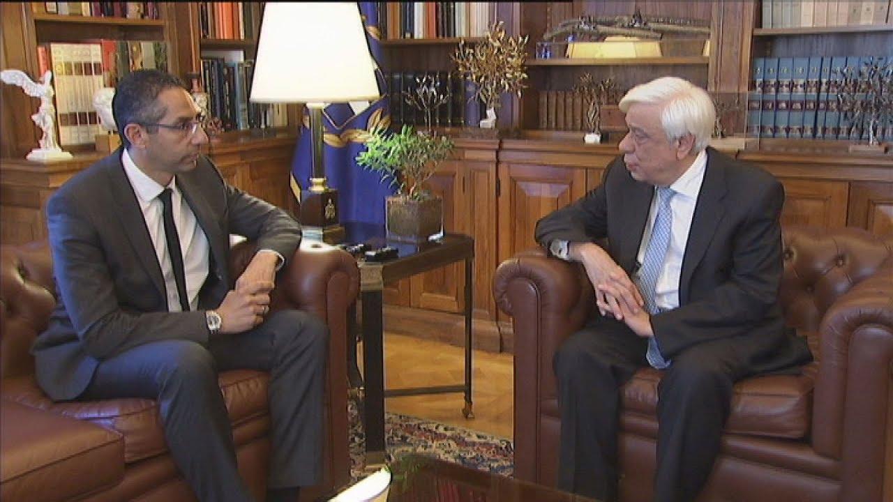Συνάντηση του ΠτΔ  με τον υπουργό  Αμυνας της Κύπρου Σ.Αγγελίδη