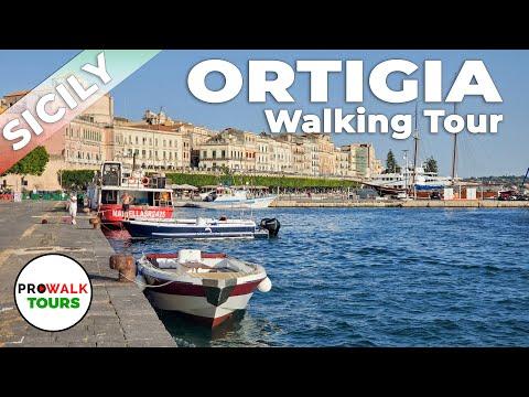 Ortigia, Sicily Walking Tour - 4K - Prowalk Tours видео
