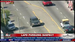 Video HOUR LONG PURSUIT: LAPD takes DUI suspect in custody following slow chase (FNN) MP3, 3GP, MP4, WEBM, AVI, FLV Oktober 2018