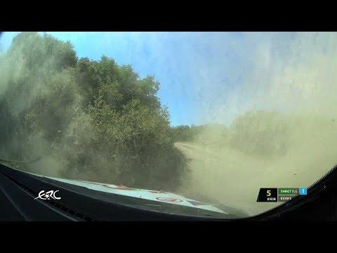 EKO Acropolis Rally 2018 - Herczig's Mistake on SS10 - OBC with data