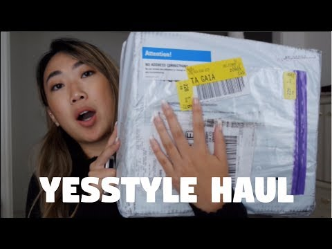 YESSTYLE UNBOXING HAUL AND TRYON (HONEST REVIEW)