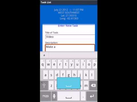 Video of Mobile Task List