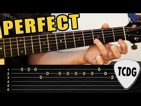 Melodía FÁCIL en Guitarra Acústica: Perfect - Ed Sheeran | TABS TCDG
