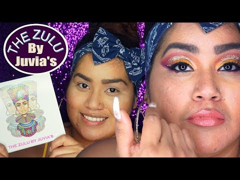 SUNSET EYESHADOW LOOK WITH (GLITTER) USING THE ZULU PALETTE BY JUVIAS PLACE | HONEST REVIEW/TUTORIAL