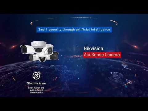 Hikvision AcuSense Cameras with Audio Alarm Speaker & Strobe Light