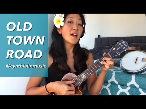 Old Town Road (Lil Nas X x Billy Ray Cyrus Remix ukulele cover) // Cynthia Lin Play-Along