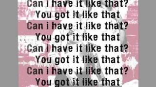 Pharell Williams ft Gwen Stefani Can i have it like that lyrics