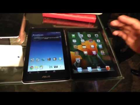 ipad hd - ASUS MeMO Pad HD 7 budget tablet vs. Apple iPad mini - comparison at Computex 2013 - http://www.mobilegeeks.com - We're quickly comparing the iPad mini with ...