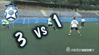 Allenamento Esordienti - 11 - 3 contro 1