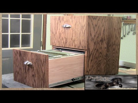 drawers - This week, I am making a 2 drawer filing cabinet for my grandfather, join me as I walk you through building this simple construction Oak Cabinet. Congratulat...