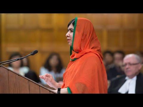 Malala Yousafzai becomes honorary Canadian