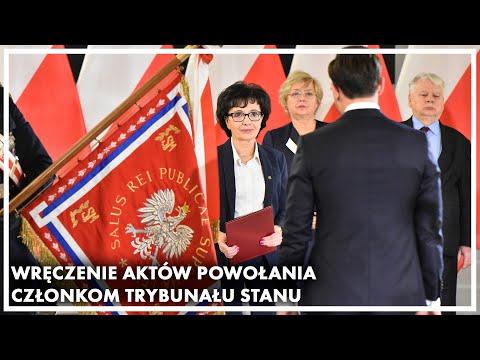 Wideo1: Wręczenie aktów powołania członkom Trybunału Stanu, w tym również Piotrowi Jóźwiakowi