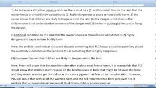 Pass The CA (California) Bar Exam - How To Write The July 08- Torts Essay - Negligence