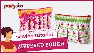 Video zippered pouch sewing video tutorial by pattydoo MP3, 3GP, MP4, WEBM, AVI, FLV Oktober 2018