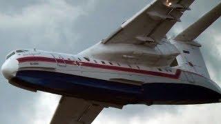 Beriev Be-200 [Бериев Бе-200] Impressive Water Bombing @ MAKS Moscow Air Show