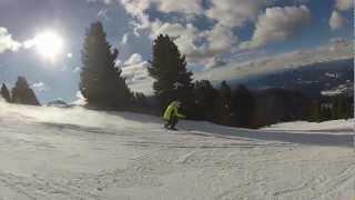 Cavalese Italy  city photos : Italy 2013 - Val di Fiemme - Cavalese - Carano - Dolomiti Super Ski - Solo riding