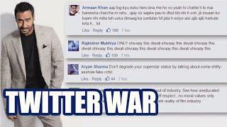 Video 3 famous twitter wars: Kamaal R Khan KRK Vs Ajay Devgn FULL STORY MP3, 3GP, MP4, WEBM, AVI, FLV Desember 2018