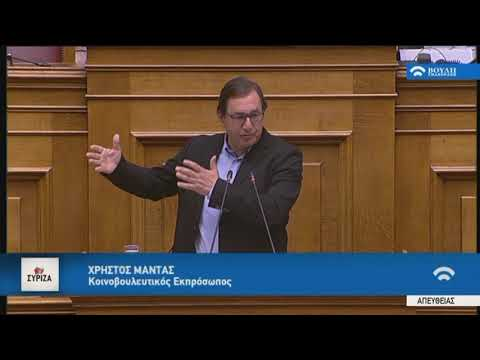 Χ.Μαντάς(Κοινοβ.Εκπρ.ΣΥ.ΡΙΖ.Α.)(Ψήφος εμπιστοσύνης)(10/05/2019)