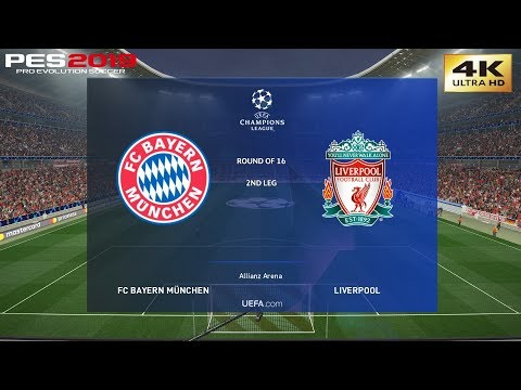 PES 2019 (PC) Bayern Munich Vs Liverpool | UEFA CHAMPIONS LEAGUE ROUND OF 16 | 13/3/2019 | 4K 60FPS