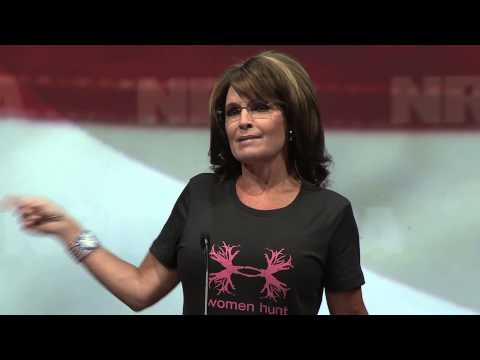 Annual - Former Republican vice presidential candidate Sarah Palin addresses the crowd at the NRA-ILA Leadership Forum, an event of the 2013 NRA Annual Meetings in Ho...