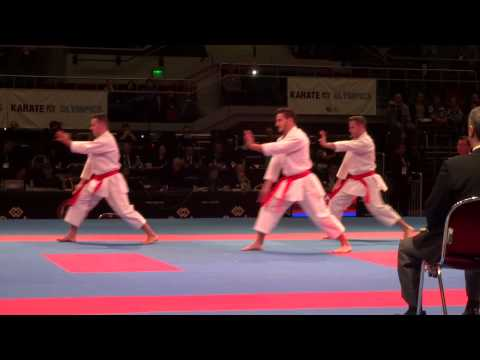 SPAIN Male Team Kata Final - 2014 World Karate Championships