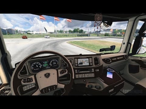 Scania S&R CMI Brown & Beige Interior 1.36