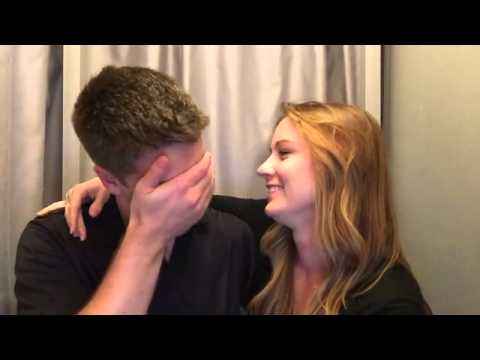 Surprise Pregnancy Announcement to Husband in a Photo Booth!