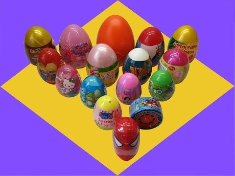 pig - 16 wonderful surprise Eggs with his toys, candy and stickers , thank you to leave a comment, share and subscribe.☮☯☮ Gormiti,Toy Story 3, Playmobil Western, Ben 10, Disney Princess,...