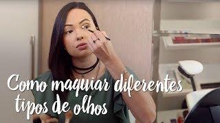 Como maquiar diferentes tipos de olhos