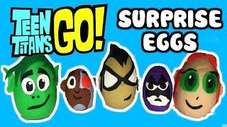 """TEEN TITANS GO! Play-Doh Surprise Eggs """"Robin & Beast Boy"""" & Teen Titans Go Surprise Toys"""