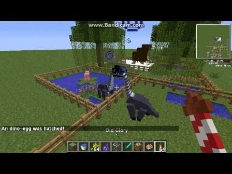 (Xteem) minecraft Modไดโนเสาร์ นะครัช ตอนที่ 4