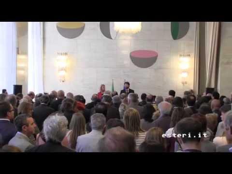 Cerimonia di inaugurazione del nuovo allestimento della Collezione d'arte della Farnesina