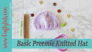 Get the written pattern here:Basic Preemie Knitted Hat - Free Knitting PatternVideo tutorial showing you how to knit a preemie hat (baby hat for a premature baby)Gauge: In stockinette = 20 st. by 24 rows = 4 inches (10 cm)Stitches used and abbreviations: CO = Cast onk = knitp = purlk2tog = knit two togetherSt = Stitch(es)Yarn: DK weight (8 ply – 3 : Light)Yardage: 60 – 75 yards ( 65 – 69 meters)Needle: 4.0 mm dpsWhat camera I use?Canon T3i (discontinued by Canon) See the T5i insteadhttp://amzn.to/1MD5ruWWhat lenses I use?Canon 50mm 1.4http://amzn.to/1Rm2gcVCanon 55-200mmhttp://amzn.to/1RyDmpEWhat lighting I use?LimoStudio 800Whttp://amzn.to/1Rm2H73Natural LightAlso find me on:- craftytuts.com- pinterest.com/brujitamary- facebook.com/craftytut- Instagram: craftytuts- Twitter: @brujita_mary