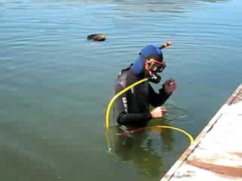 Hookah Diving Osoyoos Lake- with underwater hose breathing system