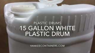 15 gallon white plastic drum